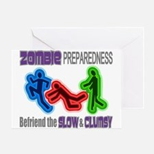 Zombie Preparedness Slow Clumsy Colorful Greeting