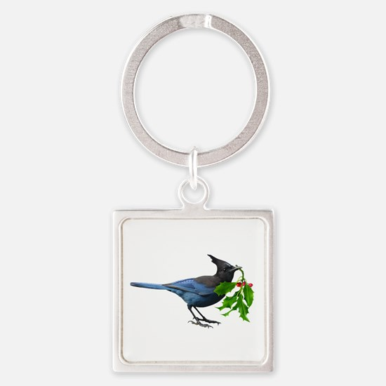 Jay Holly Square Keychain