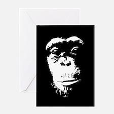 chimp1b-TIL.png Greeting Cards