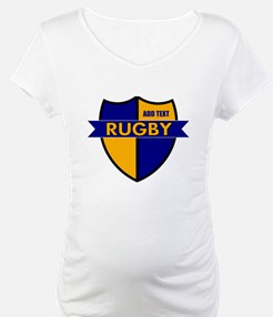 Rugby Shield Blue Gold Shirt