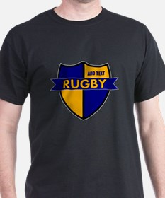 Rugby Shield Blue Gold T-Shirt