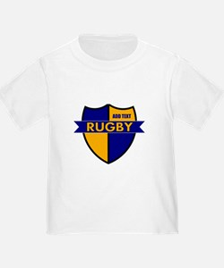 Rugby Shield Blue Gold T