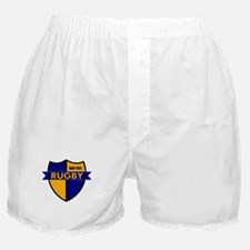 Rugby Shield Blue Gold Boxer Shorts