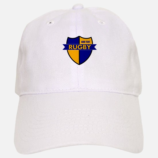 Rugby Shield Blue Gold Baseball Baseball Cap