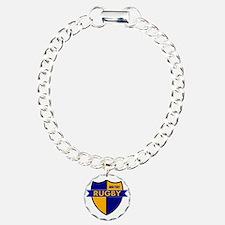 Rugby Shield Blue Gold Bracelet