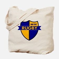 Rugby Shield Blue Gold Tote Bag