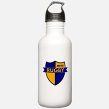 Rugby Shield Blue Gold Water Bottle