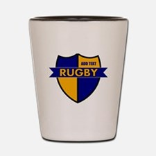 Rugby Shield Blue Gold Shot Glass