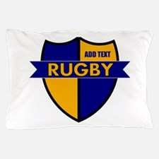 Rugby Shield Blue Gold Pillow Case