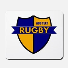 Rugby Shield Blue Gold Mousepad