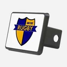 Rugby Shield Blue Gold Hitch Cover
