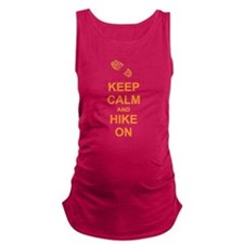 Keep Calm and Hike On Maternity Tank Top