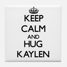 Keep Calm and HUG Kaylen Tile Coaster