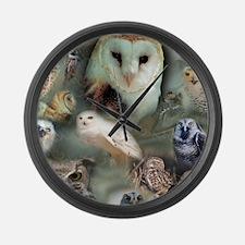 Happy Owls Large Wall Clock