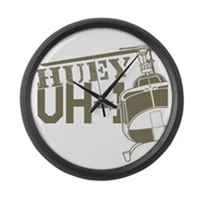 UH-1 Huey Helicopter Large Wall Clock