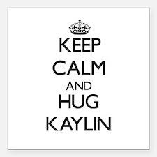 "Keep Calm and HUG Kaylin Square Car Magnet 3"" x 3"""