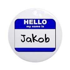 hello my name is jakob  Ornament (Round)