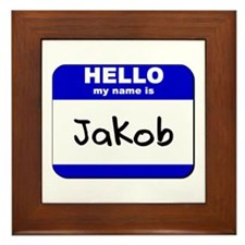 hello my name is jakob  Framed Tile