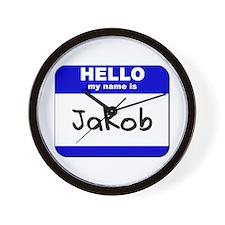 hello my name is jakob  Wall Clock