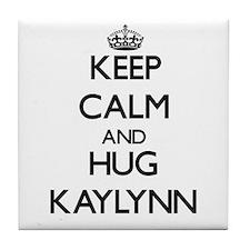 Keep Calm and HUG Kaylynn Tile Coaster