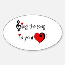 Heart Song Sticker (Oval)