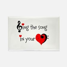 Heart Song Rectangle Magnet