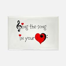 Heart Song Rectangle Magnet