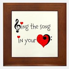 Heart Song Framed Tile