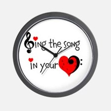 Heart Song Wall Clock