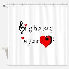 Heart Song Shower Curtain
