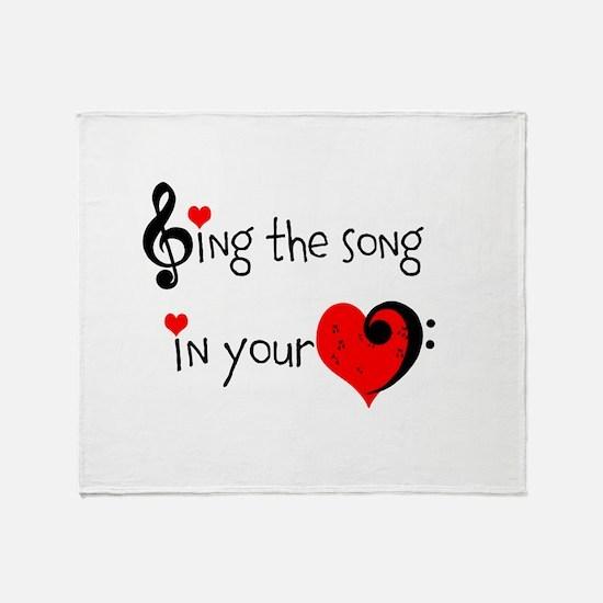 Heart Song Throw Blanket