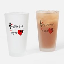 Heart Song Drinking Glass