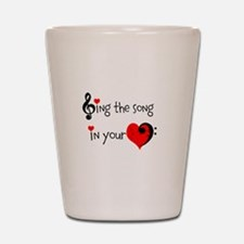 Heart Song Shot Glass