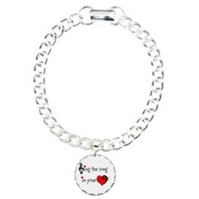 Heart Song Charm Bracelet, One Charm
