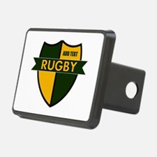 Rugby Shield Green Gold Hitch Cover