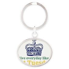 Live Everyday Like Fat Tuesday Oval Keychain