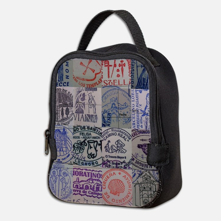 Cute Camino de santiago Neoprene Lunch Bag
