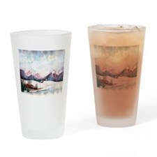 Cabin in the Mountains Drinking Glass