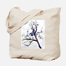 Nuthatch on a Branch Tote Bag