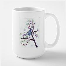 Nuthatch on a Branch Large Mug