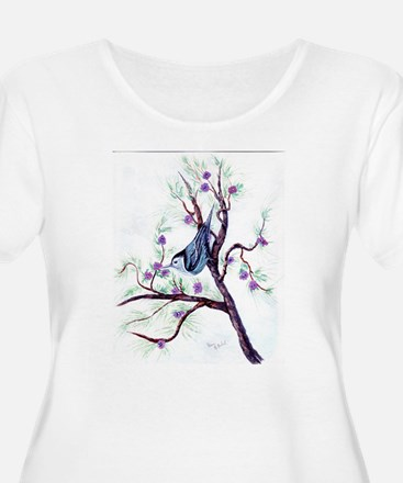 Nuthatch on a Branch T-Shirt