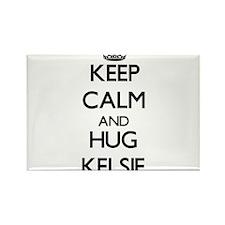 Keep Calm and HUG Kelsie Magnets