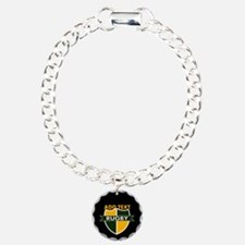 Rugby Crest Green Gold BlkPz Bracelet