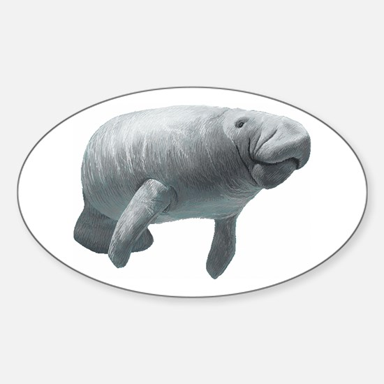 Manatee Sticker (Oval)