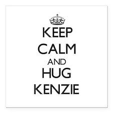 """Keep Calm and HUG Kenzie Square Car Magnet 3"""" x 3"""""""