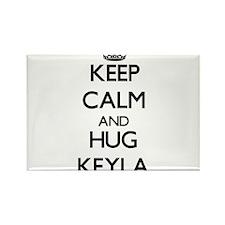 Keep Calm and HUG Keyla Magnets