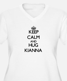 Keep Calm and HUG Kianna Plus Size T-Shirt