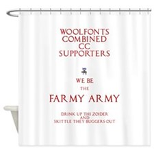 Farmy Army Shower Curtain