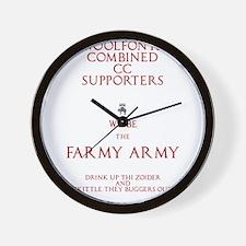 Farmy Army Wall Clock