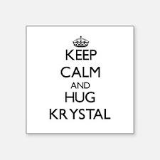 Keep Calm and HUG Krystal Sticker